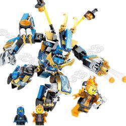 Lego NinJaGo MOC Sembo S8302 Jay's Mech Xếp hình Người máy của Jay 289 khối