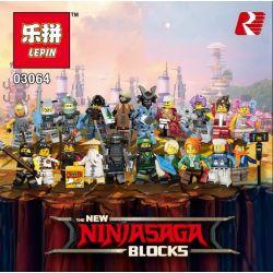 Lego NinJaGo Movie 71019 Lepin 03064 Minifigures Xếp hình 20 nhân vật Lloyd Garmadon, Jay, Gong and Guitar Rocker,Volcano Garmadon, Sushi Chef, Nya, Great White, Genera, Misako, Master Wu, Garmadon,