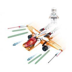 Cada C54006 C54006W (NOT Lego Star wars Skyhopper ) Xếp hình Máy Bay Trực Thăng gồm 2 hộp nhỏ 287 khối