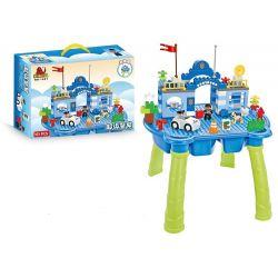 Hystoys Hongyuansheng Aoleduotoys HG-1401 (NOT Lego Duplo Super Police ) Xếp hình Trụ Sở Cảnh Sát Có Bàn Khối 101 khối
