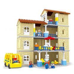 Hystoys Hongyuansheng Aoleduotoys HG-1614 (NOT Lego Duplo Warm Family ) Xếp hình Gia Đình Ấm Áp 121 khối