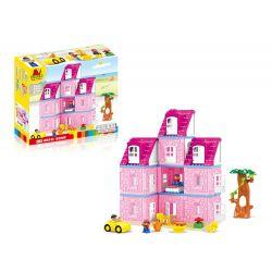 Lego Duplo 4966 Hystoys HG-1619 Dolls' House Xếp hình Ngôi Nhà Hồng Của Bé Gái 87 khối