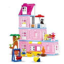 Hystoys Hongyuansheng Aoleduotoys HG-1620 (NOT Lego Duplo Warm Family ) Xếp hình Gia Đình Ấm Áp 89 khối