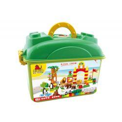 Hystoys Hongyuansheng Aoleduotoys HG-1640B (NOT Lego Duplo Happy Zoo ) Xếp hình Sở Thú Vui Nhộn Có Hộp 76 khối