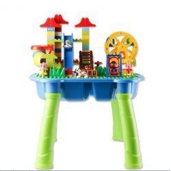 Aoleduotoys GM-5015 Duplo MOC Playground Xếp hình Khu vui chơi có bàn 133 khối
