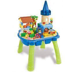 Aoleduotoys GM-5020 Duplo MOC Happy Family Xếp hình Ngôi nhà vui vẻ có bàn 99 khối