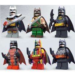Lego The Batman Movie MOC Decool 0268-0273 Six TLBM Batman Costumes Minifigs Xếp hình 6 Batman và trang phục búp bê 360 khối