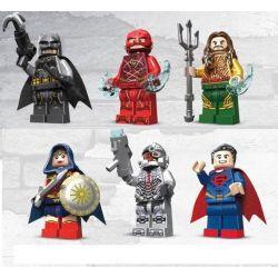Decool 0282 0283 0284 0285 0286 0287 Super Heroes MOC Justice League Movie Batman The flash Aquaman Superman Cyborg Wonder woman Xếp hình 6 búp bê Người dơi Người tia chớp Siêu nhân Nữ thần chiến binh