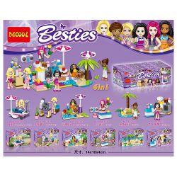 Lego Friends MOC Decool 80211 80212 80213 80214 80215 80216 6 in 1 Xếp hình Xếp hình 6 trong 1 288 khối
