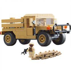 Lego Military Army MOC Decool 2112 M1097A2 Hummer Carrier Xếp hình 170 khối