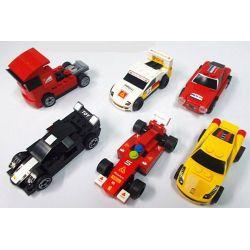 Lego Speed Champions MOC Decool 2210-2215 Pull Back Cars model F40/F150/458/250 mini car truck Xếp hình Mô hình xe ô tô mini F40/F150/458/250 236 khối