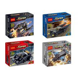 Lego Super Heroes MOC Decool 7004-7007 Mini Figures Batman Vehicles Xếp hình Xe mini Figures của Batman 180 khối