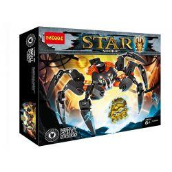 Decool 10669 Xinh 6011 Bionicle 70790 Lord of Skull Spiders Xếp hình Chúa Tể Nhện 145 khối
