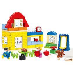 Lego Duplo MOC Huimei HM072 Happy family Xếp hình Gia đình vui vẻ 92 khối