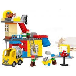 Lego Duplo MOC Huimei HM073 Urban Construction Engineering Team Xếp hình Đội ngũ kỹ thuật xây dựng đô thị 102 khối