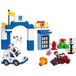 Lego Duplo MOC Huimei HM075 City Center Police Xếp hình Cảnh sát khung vực trung tâm thành phố 51 khối