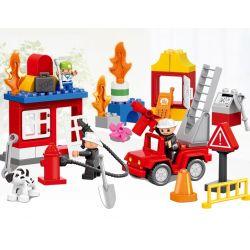 Lego Duplo MOC Huimei HM077 Consumer Rescue (small) Xếp hình Giải cứu người tiêu dùng 52 khối