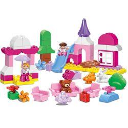 Lego Duplo MOC Huimei HM078 Princess Dream Castle Paradise (small) Xếp hình Lâu đài màu hồng của công chúa 59 khối