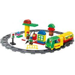 Lego Duplo MOC Huimei HM326 The railroad Xếp hình Đường sắt 59 khối