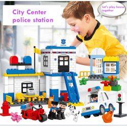 Lego Duplo MOC Huimei HM066 Police Department Xếp hình Cục cảnh sát 95 khối