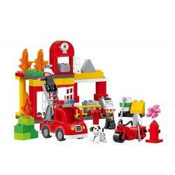 Lego Duplo MOC Huimei HM067 Fire Rescue Xếp hình Thiết bị cứu hỏa 86 khối