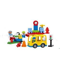 Lego Duplo MOC Huimei HM070 Small bus station Xếp hình Nhà chờ xe bus 29 khối
