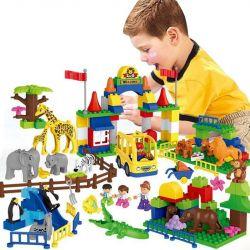 Lego Duplo MOC Huimei HM071 Wildlife Paradise Xếp hình Vườn thú safari 158 khối