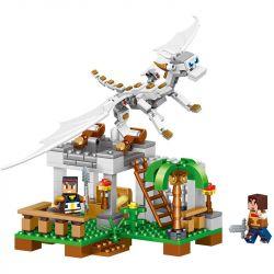 Lego Minecraft MOC Lele 33025 The pterosaurs MineCraft Xếp hình Minecraft vs Rồng trắng 325 khối