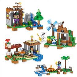Lepin 33059 Minecraft MOC 4 in 1 Lovely summer garden Xếp hình Khu vườn mùa hè xinh xắn 400 khối