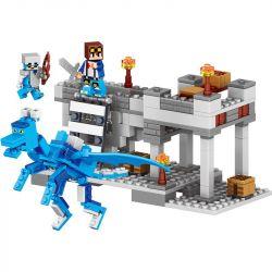 Lele 33026 Minecraft MOC Ice Blue Dragon Xếp hình Rồng băng 272 khối