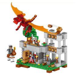 Lego Minecraft MOC Lele 33027 magic city magma dragon Moro wind wing pterosaurs Xếp hình Thành phố diệu kì 468 khối