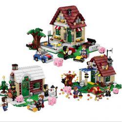 Lego Minecraft MOC Lele 33016 The Four Seasons House Xếp hình Ngôi nhà 4 mùa 569 khối