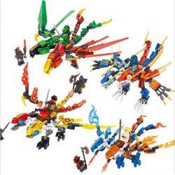 Lele 31049 Ninjago Movie 4 Dragons Xếp hình Bộ 4 Con Rồng 758 khối