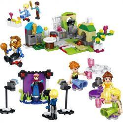Lego Disney Princess MOC Lele 37015 Happy Princess Girl Minifigure Xếp hình Set 8 nhân vật Disney Princess 200 khối