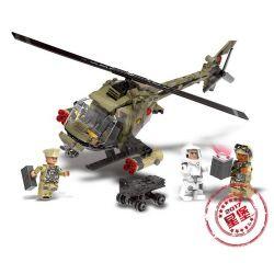 Xingbao XB-06013 Military Army Light Hawk Helicopter Xếp hình Trực Thăng Chiến Đấu Hạng Nhẹ 621 khối