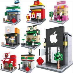 Lego City MOC Sembo SD6608 SD6609 SD6610 SD6611 SD6612 SD6613 SD6614 SD6615 Jewelry, Drugstore, Flower, Clothes, Baby Shop, Spa Xếp hình Chuỗi cửa hàng đồ trang sức, thuốc, hoa tươi, đồ sơ sinh, l