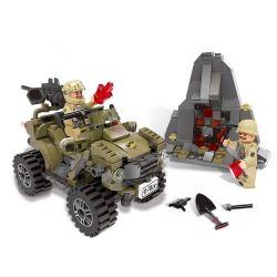 Lego Military Army MOC XingBao XB-06010 The Oprah Sand Car Xếp hình Xe hơi Oprah Sand 347 khối