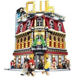 Sembo SD6991 Modular Buildings MOC 5 in 1 Club Xếp hình Câu lạc bộ 2488 khối