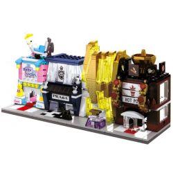 Lego Mini Street MOC Sembo SD6034 SD6035 SD6036 SD6037 Baby shop, Prada, Perfumeries, Hot Pot Xếp hình Bộ 4 cửa hàng đồ sơ sinh, thời trang cao cấp, nước hoa , quán lẩu 552 khối