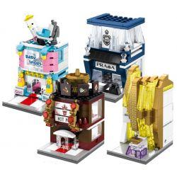 Sembo SD6034 SD6035 SD6036 SD6037 Mini Modular Baby Shop, Prada, Perfumeries, Hot Pot Xếp Hình Bộ 4 Cửa Hàng đồ Sơ Sinh, Thời Trang Cao Cấp, Nước Hoa, Quán Lẩu 552 Khối