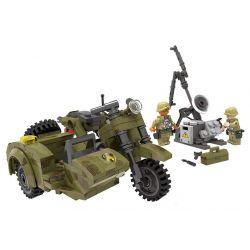 Lego Military Army MOC XingBao XB-06008 The Leaning Motorcycle Set Xếp hình 256 khối