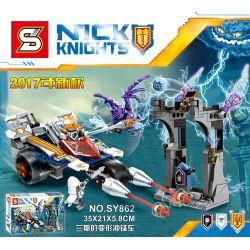 Lego Nexo Knights MOC Sheng Yuan SY862 future Knights Lance deformation Charging car Xếp hình 310 khối