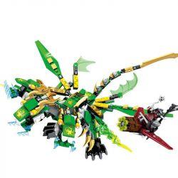 Lego NinJaGo MOC Lepin 39009 Double Dragon Anime Action Figures Xếp hình Đôi rồng Anime - nhân vật hành động 348 khối