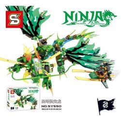 Lego NinJaGo MOC Sheng Yuan SY550 Light Thunder Green Dragon Xếp hình 339 khối