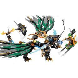 Sheng Yuan SY554 NinJaGo MOC Flying Dragon Xếp hình Rồng bay 321 khối