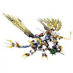 Lego NinJaGo MOC Sembo S8401 flame flying Dragon Xếp hình 335 khối