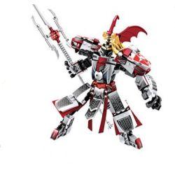 Lego Nexo Knights MOC Sembo S11802 Xếp hình Chiến binh ngựa đỏ 320 khối