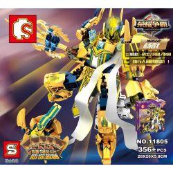 Lego Nexo Knights MOC Sembo S11805 Xếp hình Robot chiến binh ánh sáng 356 khối