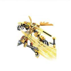 Lego Nexo Knights MOC Sembo S11817 Xếp hình Thánh Arthur phiên bản vàng 261 khối