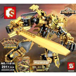 Lego King of Glory MOC Sembo S11816 Gold Edition Arthur Xếp hình Vua Arthur phiên bản vàng 291 khối